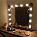 Large Vanity Mirror with Light Bulbs