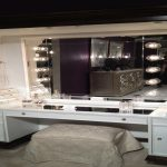 Large Vanity Table with Mirror and Bench