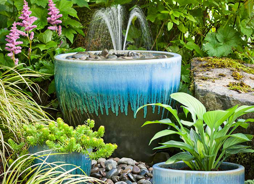 Image of: Large Water Fountain Pots