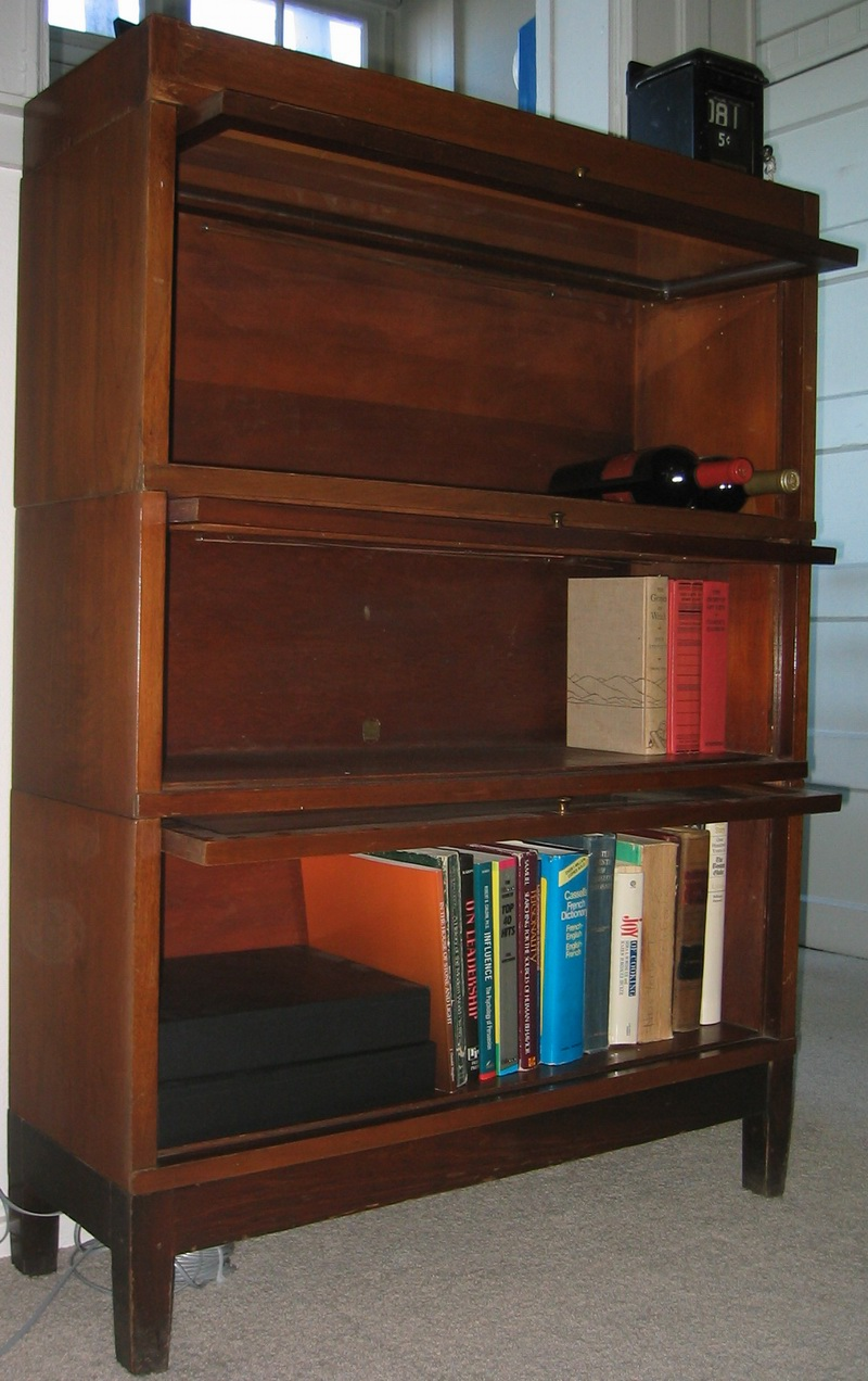 Lawyer Bookcase Wood Bookcases with Doors