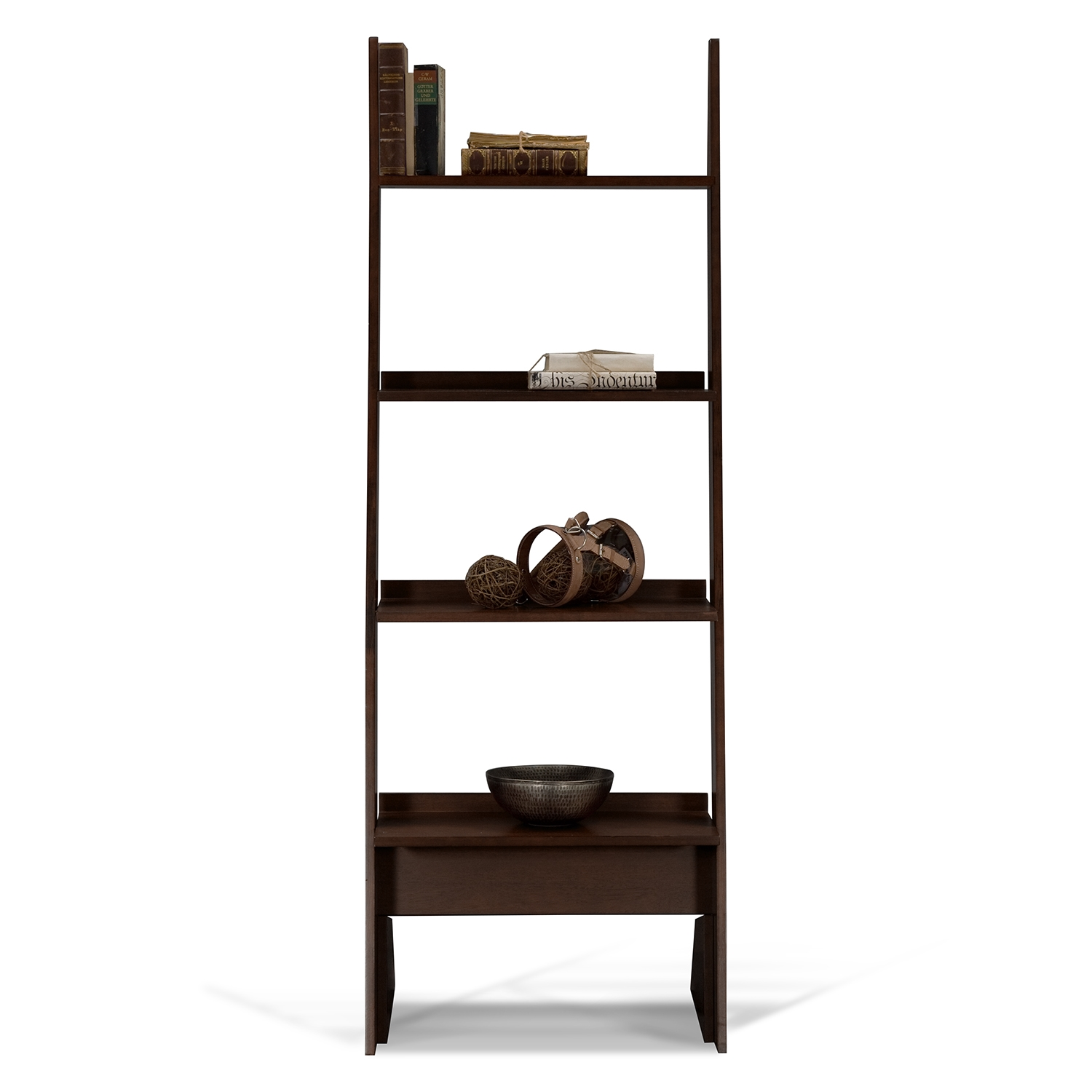 Image of: Leaning Bookcase Furniture