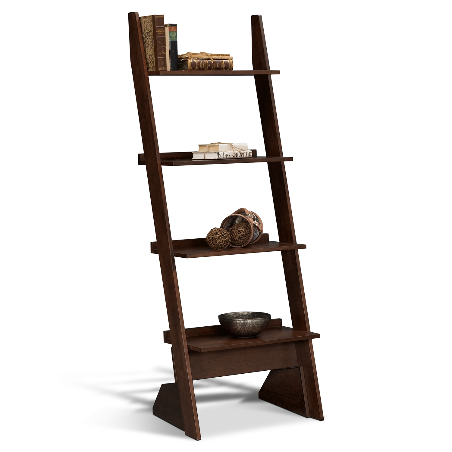 Image of: Leaning Bookcase Ideas