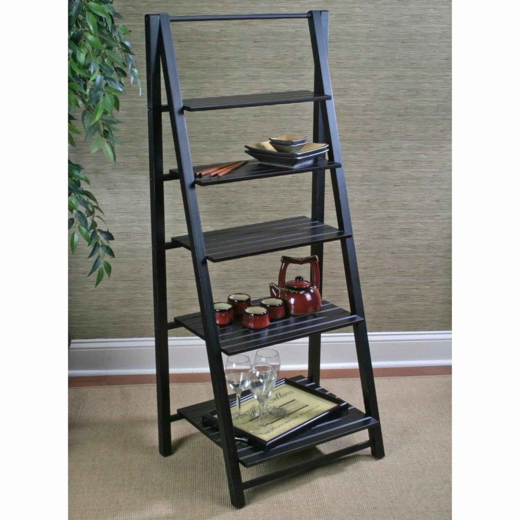 Image of: Leaning Ladder Bookcase With Drawers