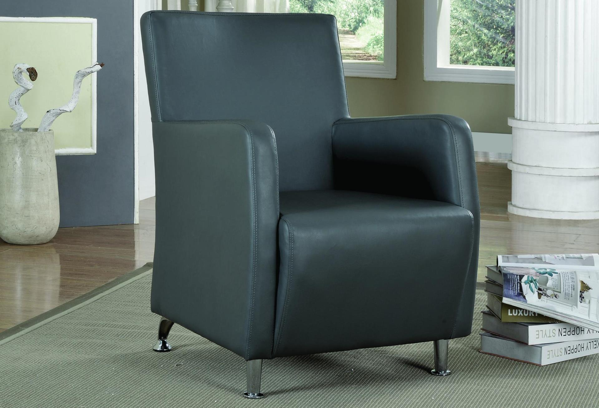 Image of: Leather Accent Chairs With Arms