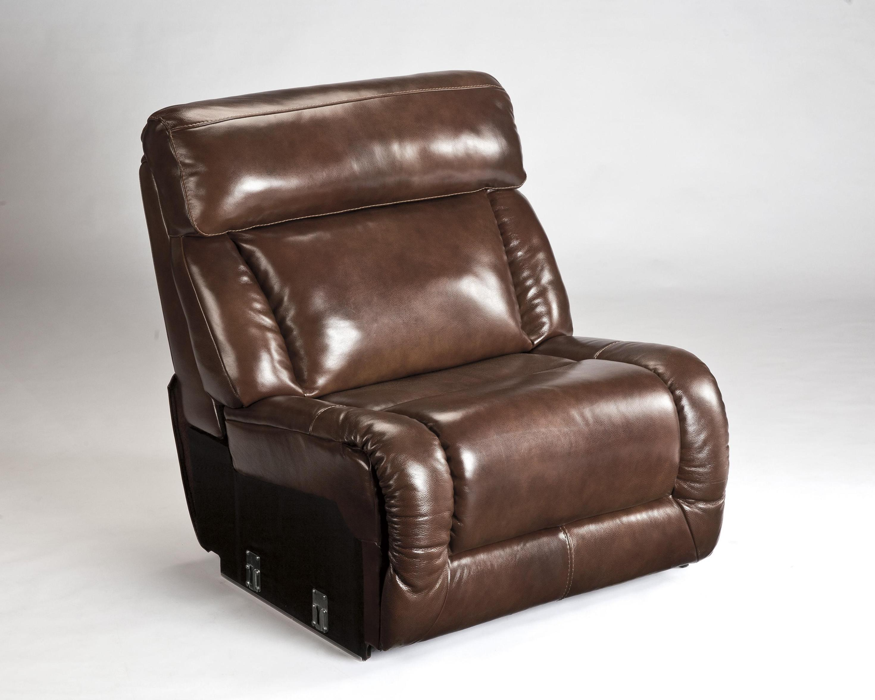 Image of: Leather Armless Chair