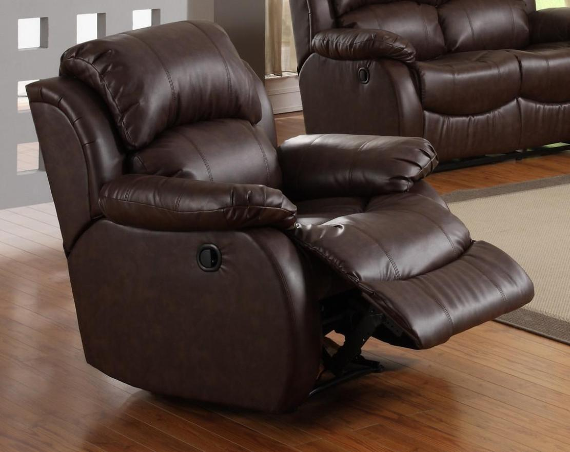 Image of: Leather Glider Rocker Recliner