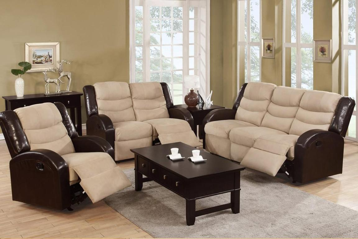Image of: Leather Loveseat Recliner With Console