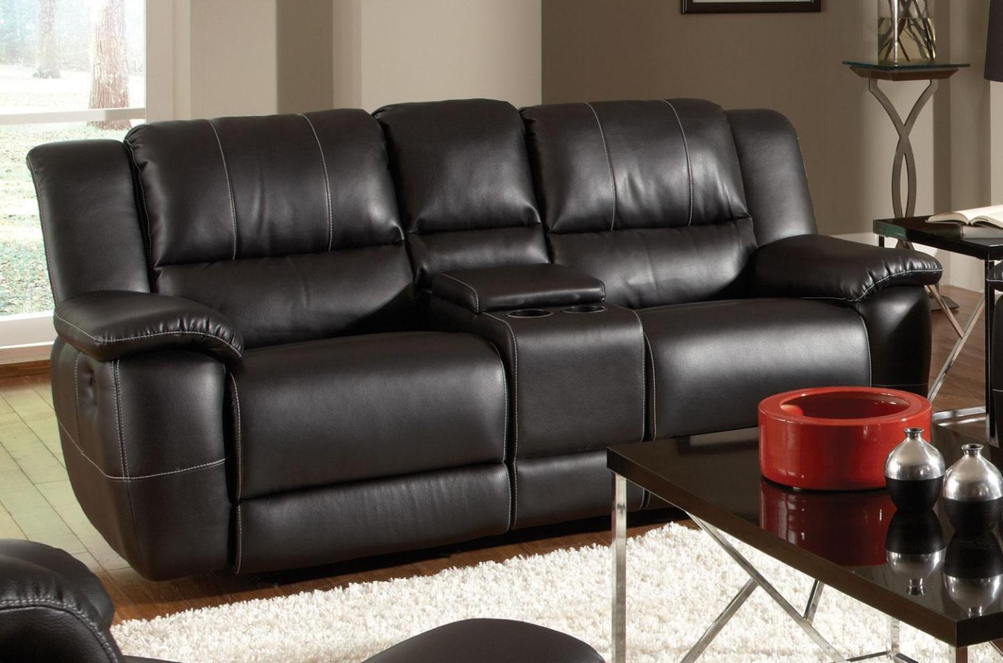 Image of: Leather Loveseat Recliner