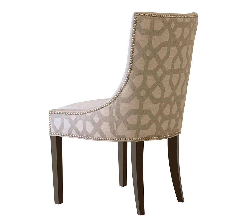 Image of: Leather Nailhead Dining Chair