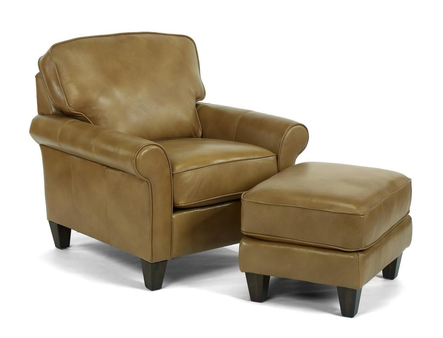 Image of: Leather Oversized Chair And Ottoman