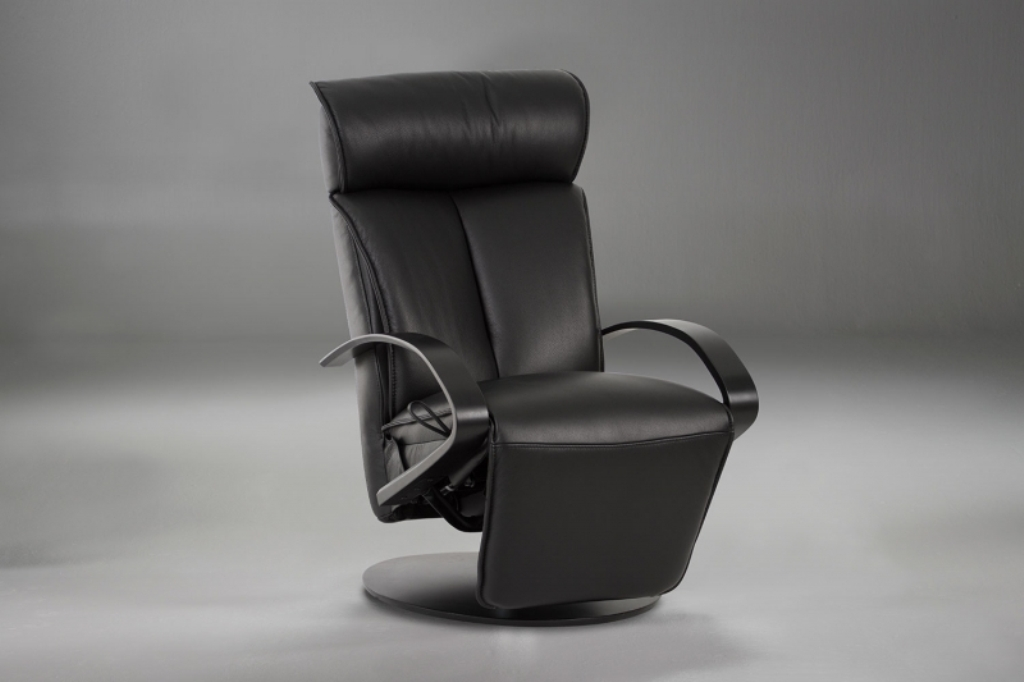 Image of: leather recliner chair ottoman