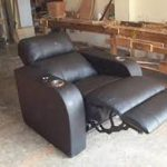 leather recliner chair and a half