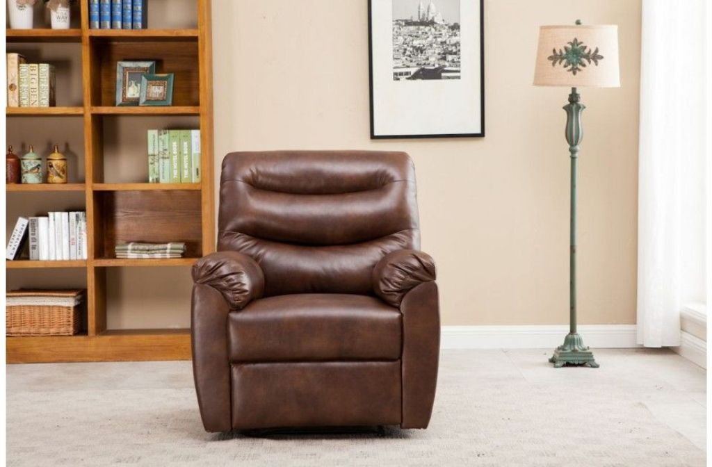 Image of: leather recliner chair and ottoman designs