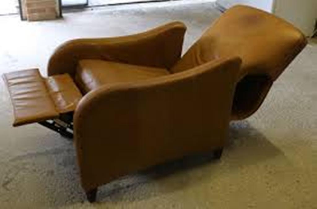 Image of: leather recliner chair in red