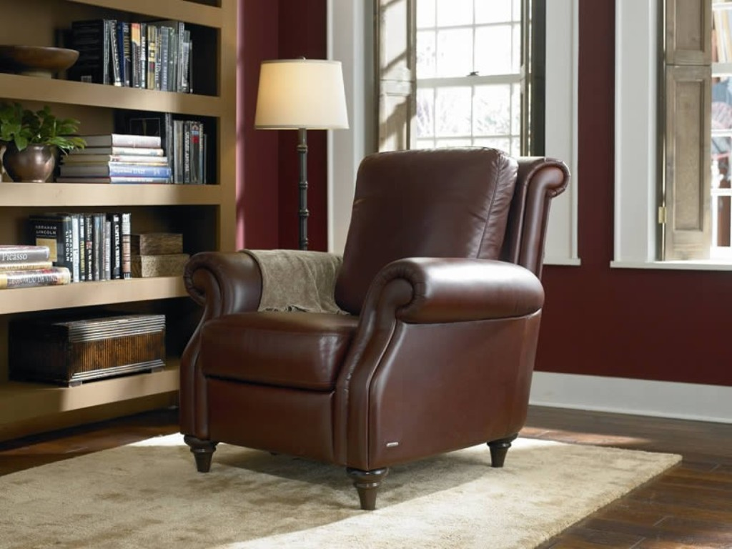 Image of: leather recliner chair with ottoman