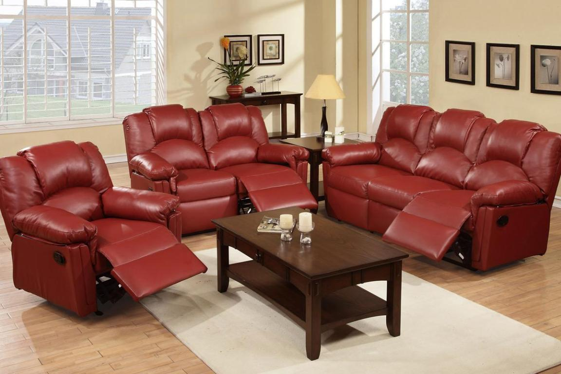 Image of: Leather Recliner Couch
