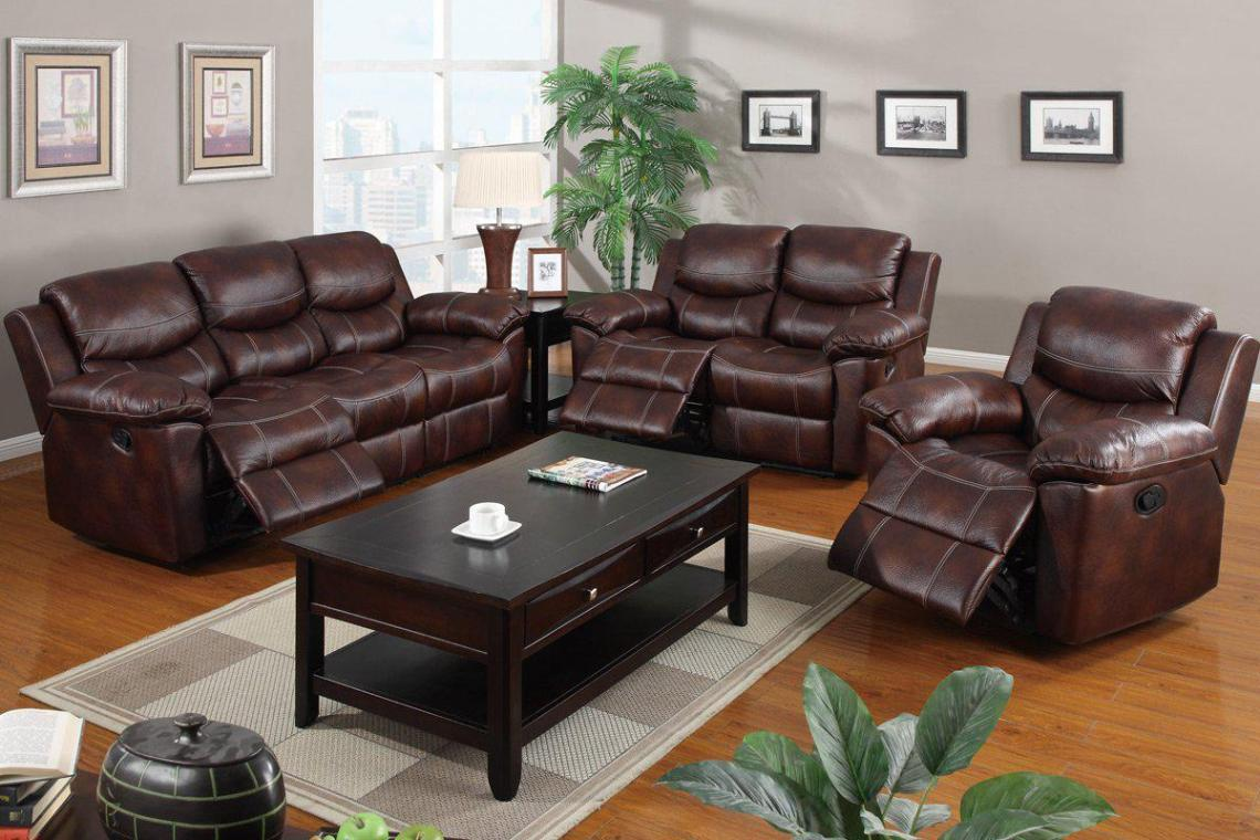 Image of: Leather Recliner Sofa Sets