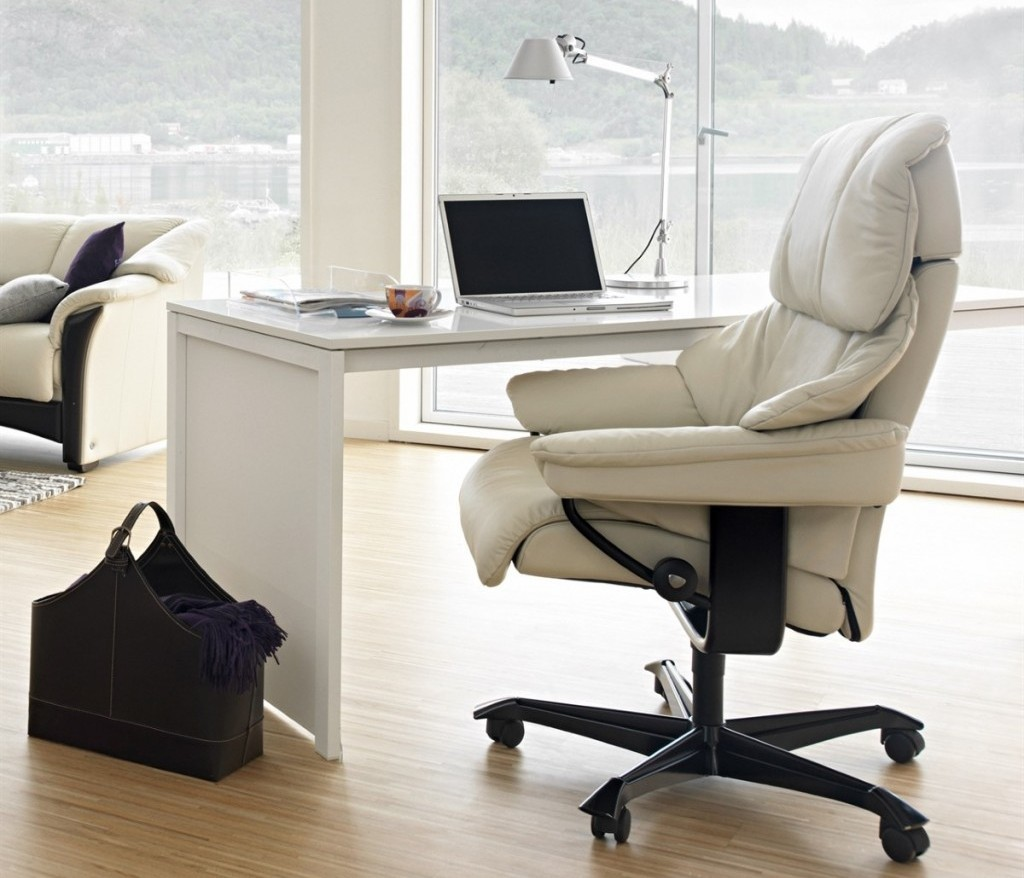 Image of: leather reclining office chair