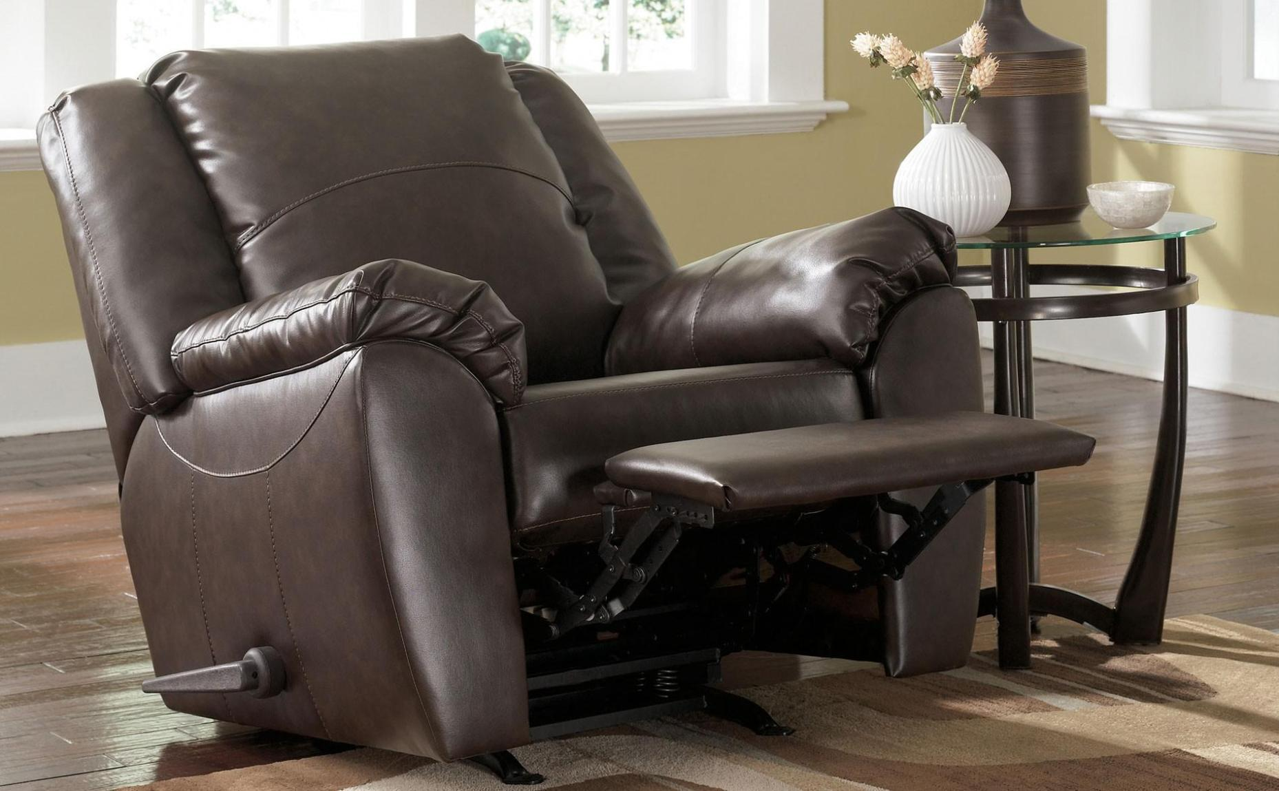 Image of: Leather Rocker Recliner Loveseat