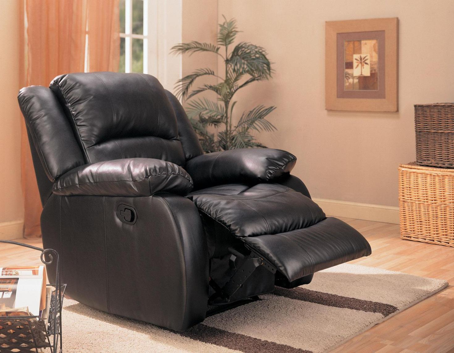 Image of: Leather Rocker Swivel Recliner