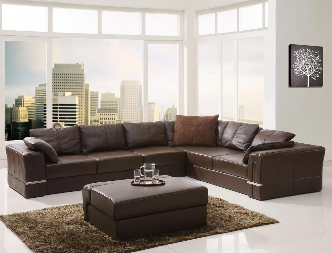 Image of: Leather Sectional Couches With Chaise