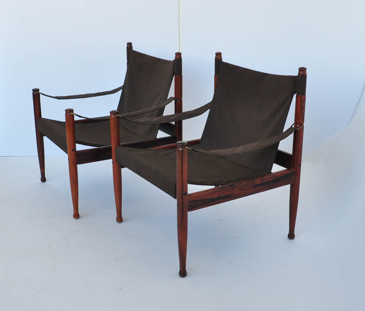 Image of: leather sling chair image
