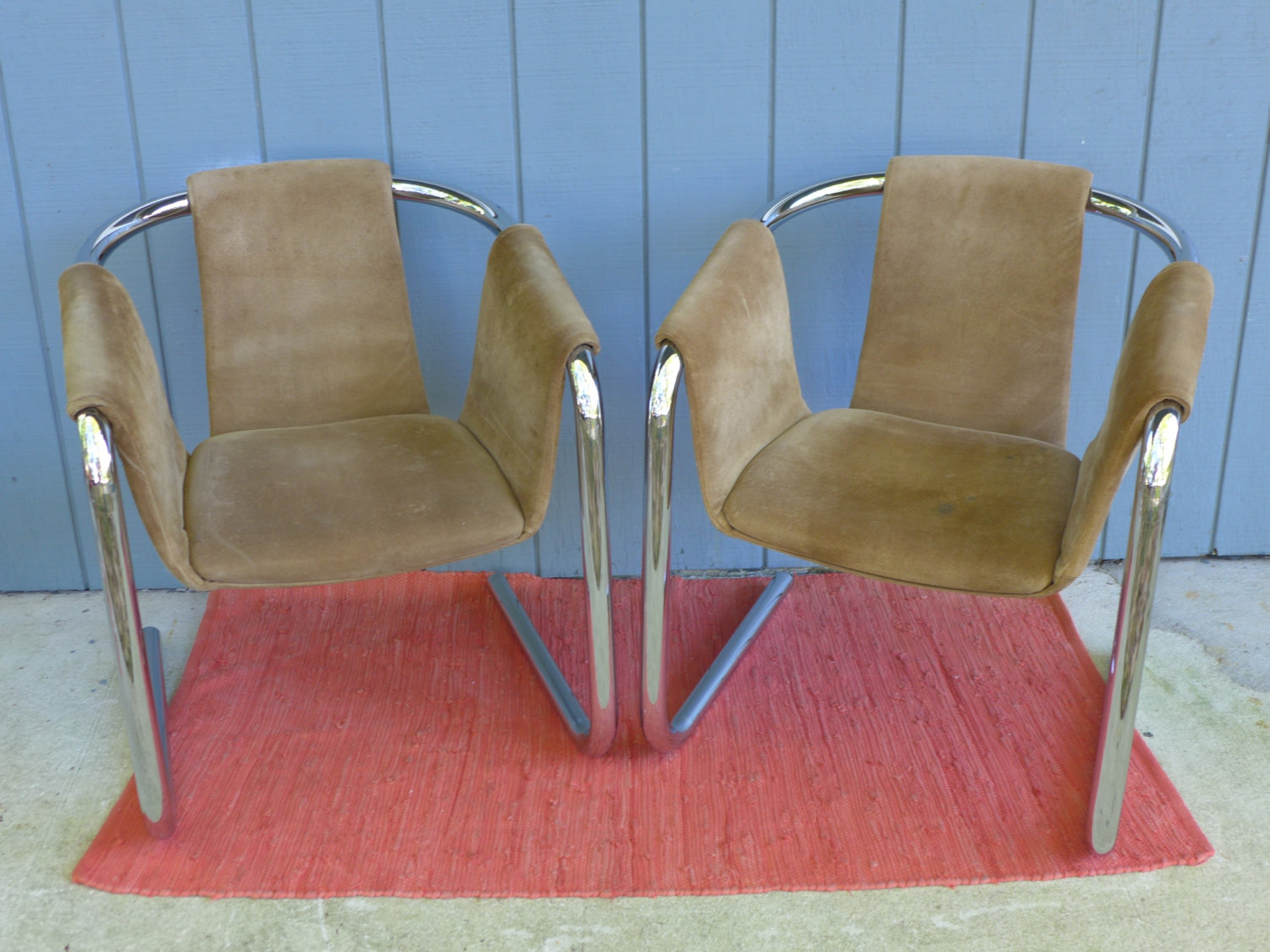 Image of: leather sling chair picture