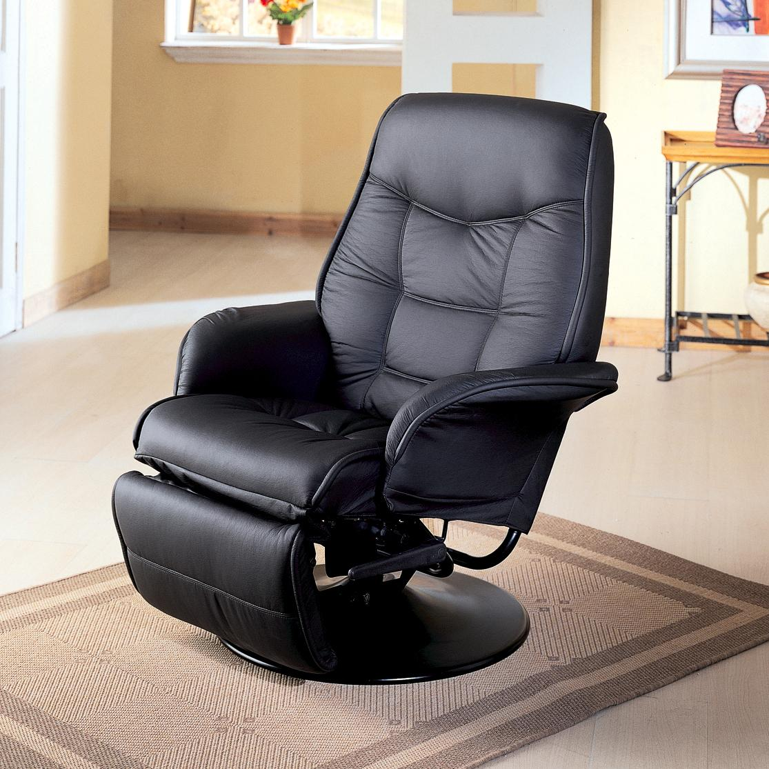 Image of: leather swivel recliner chairs