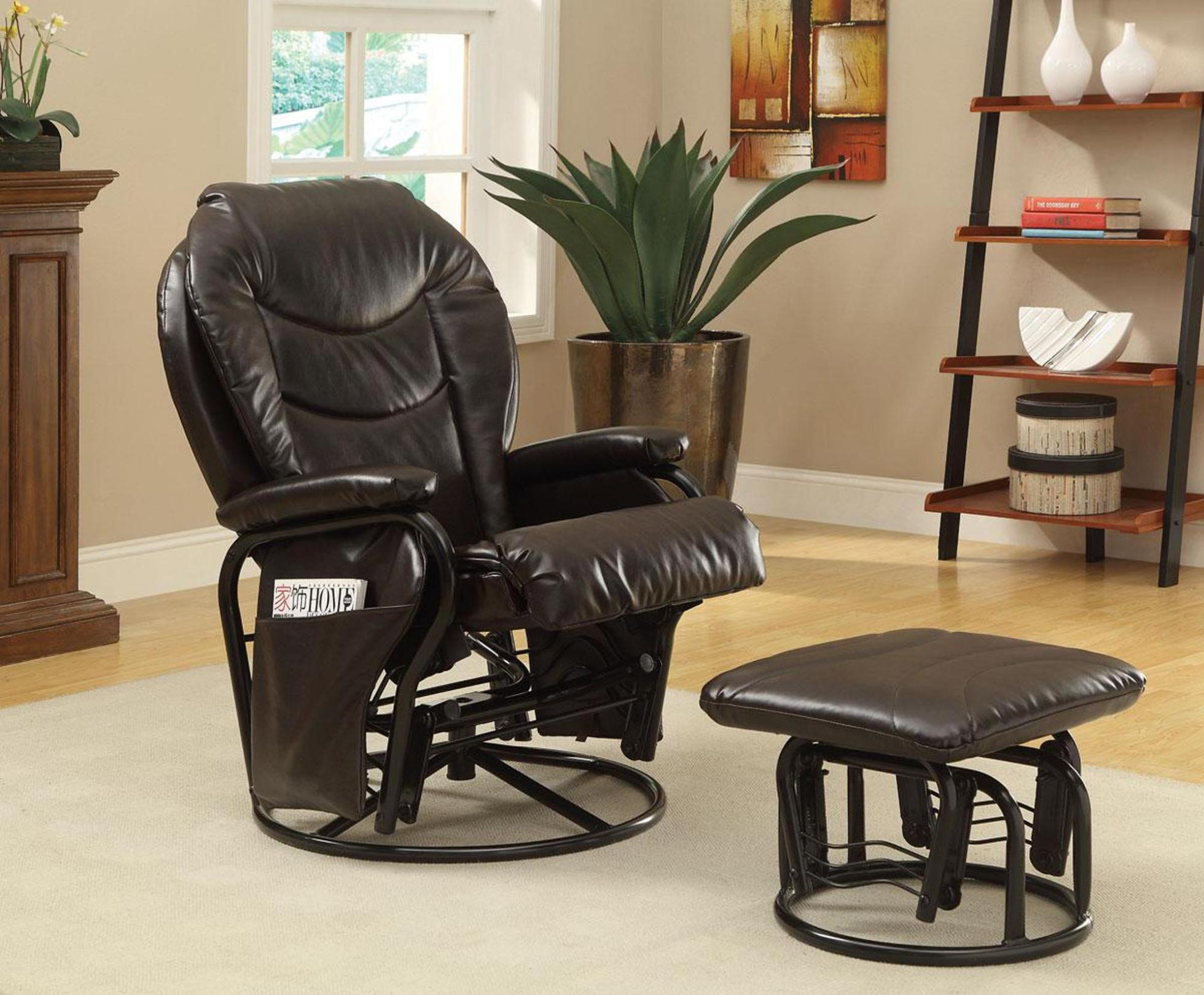 Image of: Leather Swivel Rocker Recliner