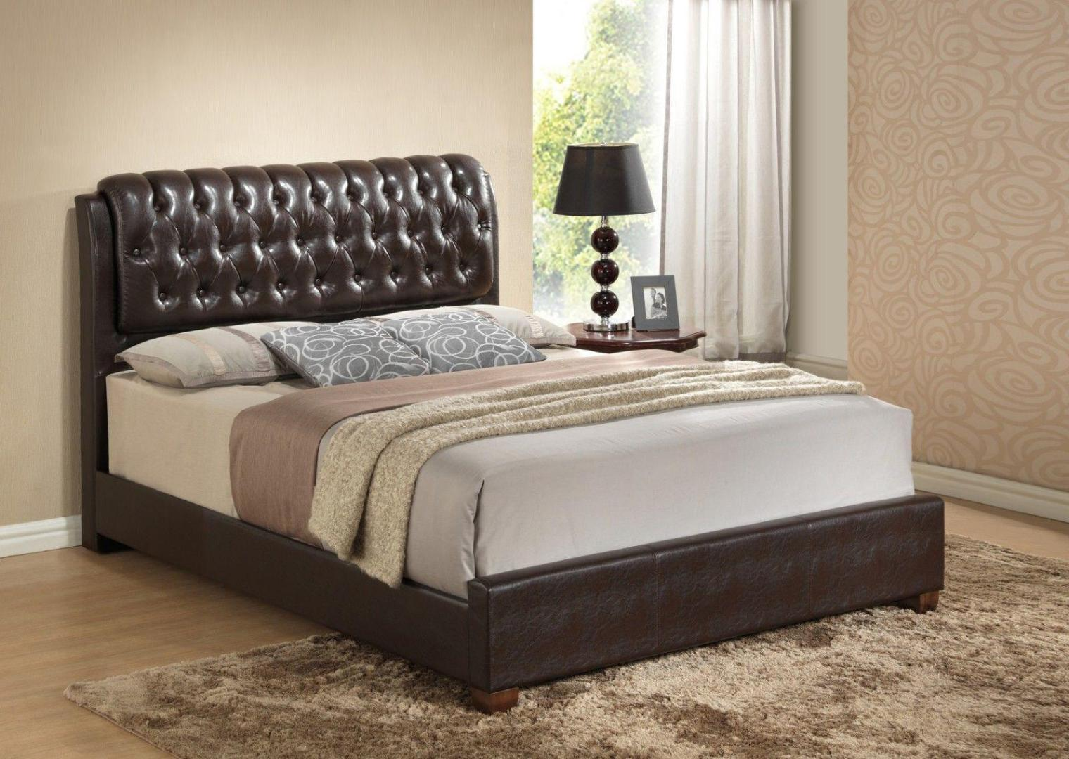 Image of: Leather Tufted Headboard Queen