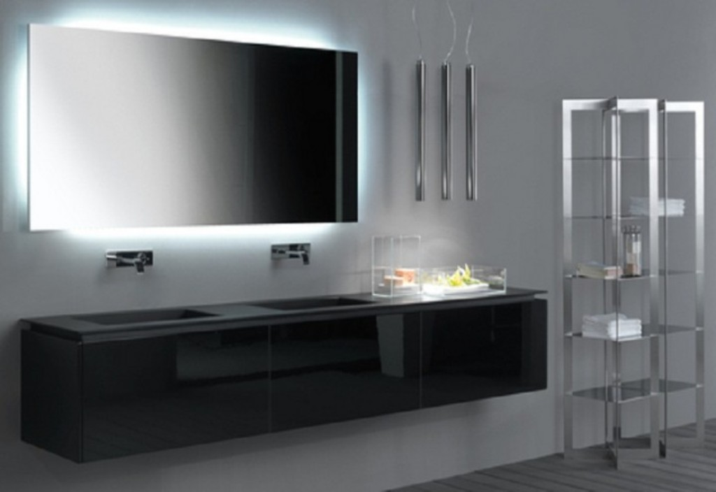 Image of: Led Bathroom Mirror Cover
