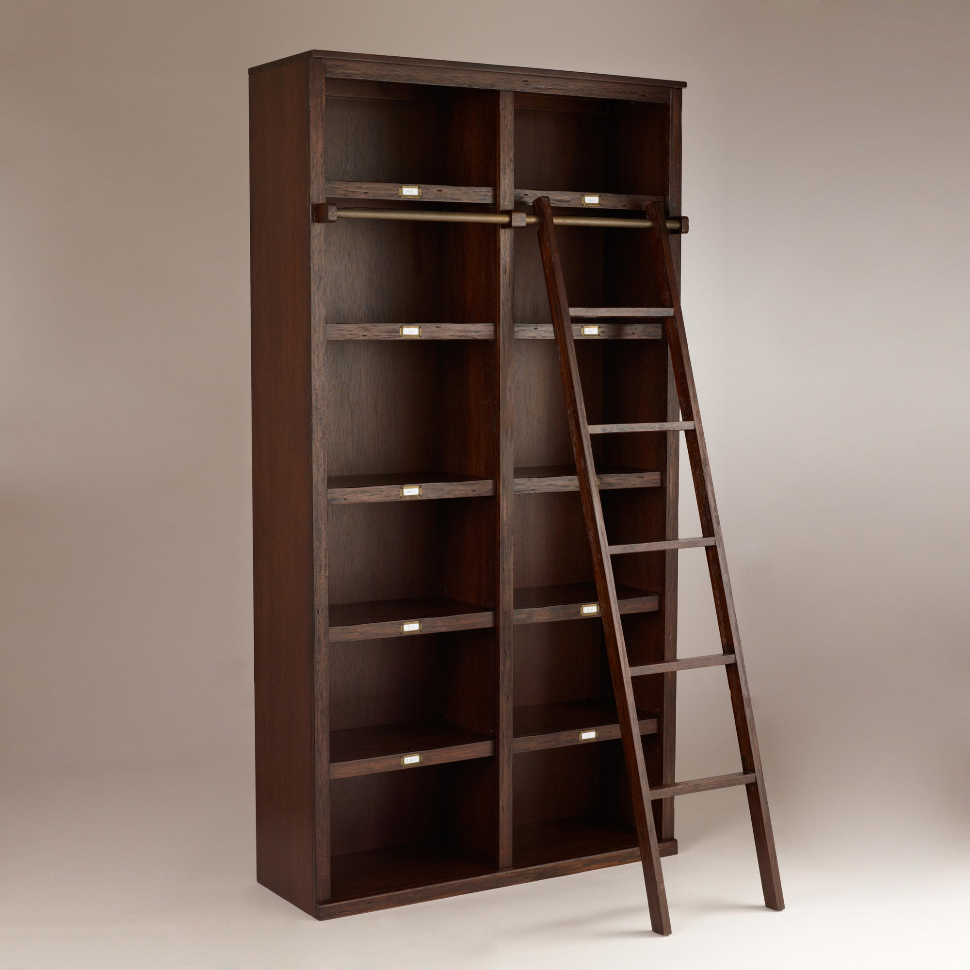 Image of: Library Bookcase with Ladder