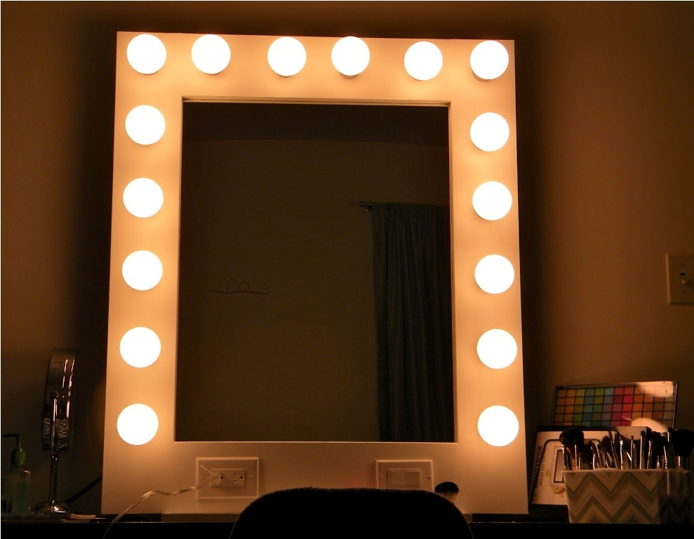 Image of: Lighted Wall Mirror Type