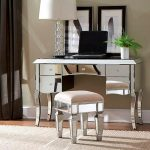 Linon Harper Mirrored Vanity Set - Silver