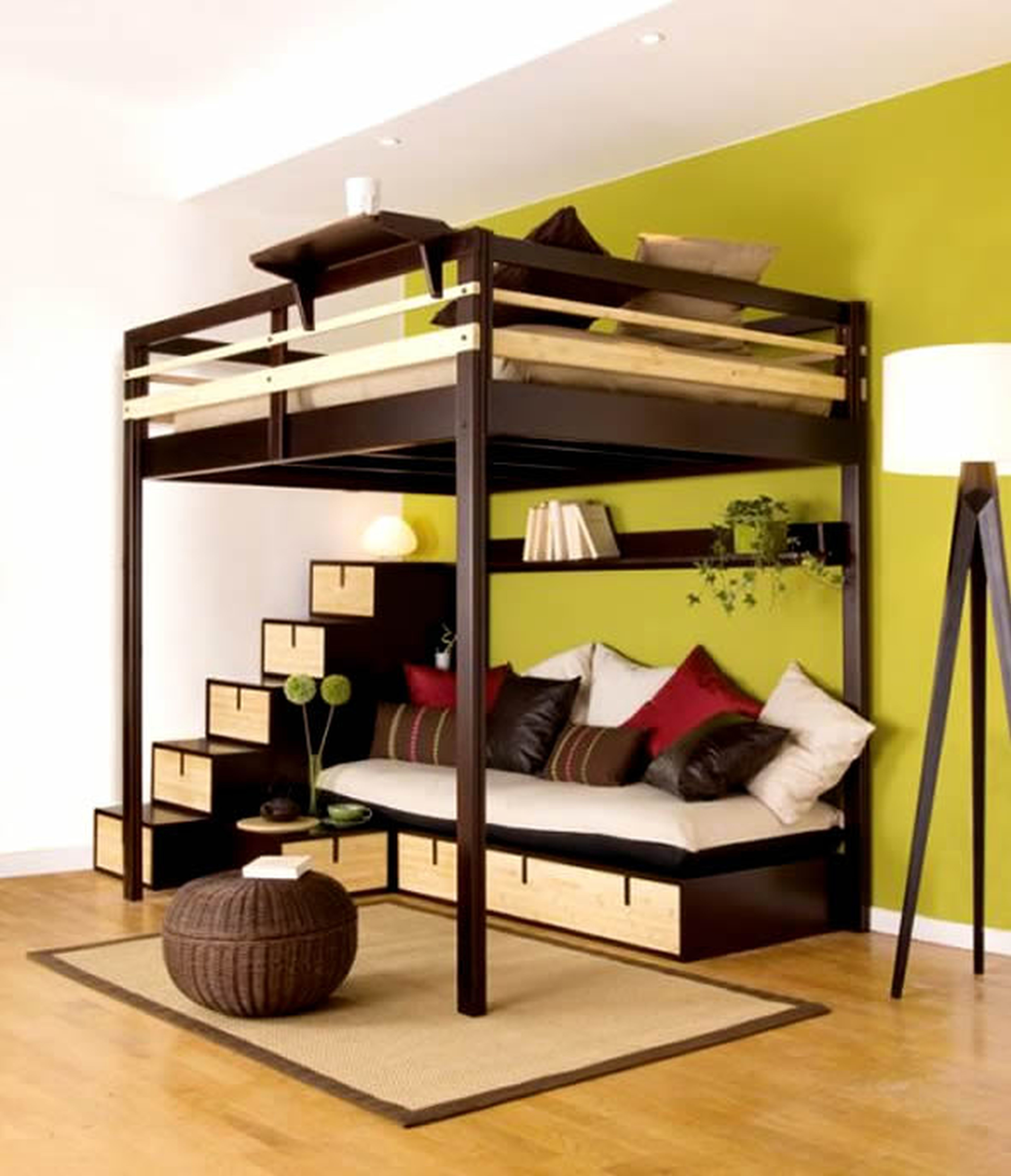 Image of: Loft Bed Frame Double