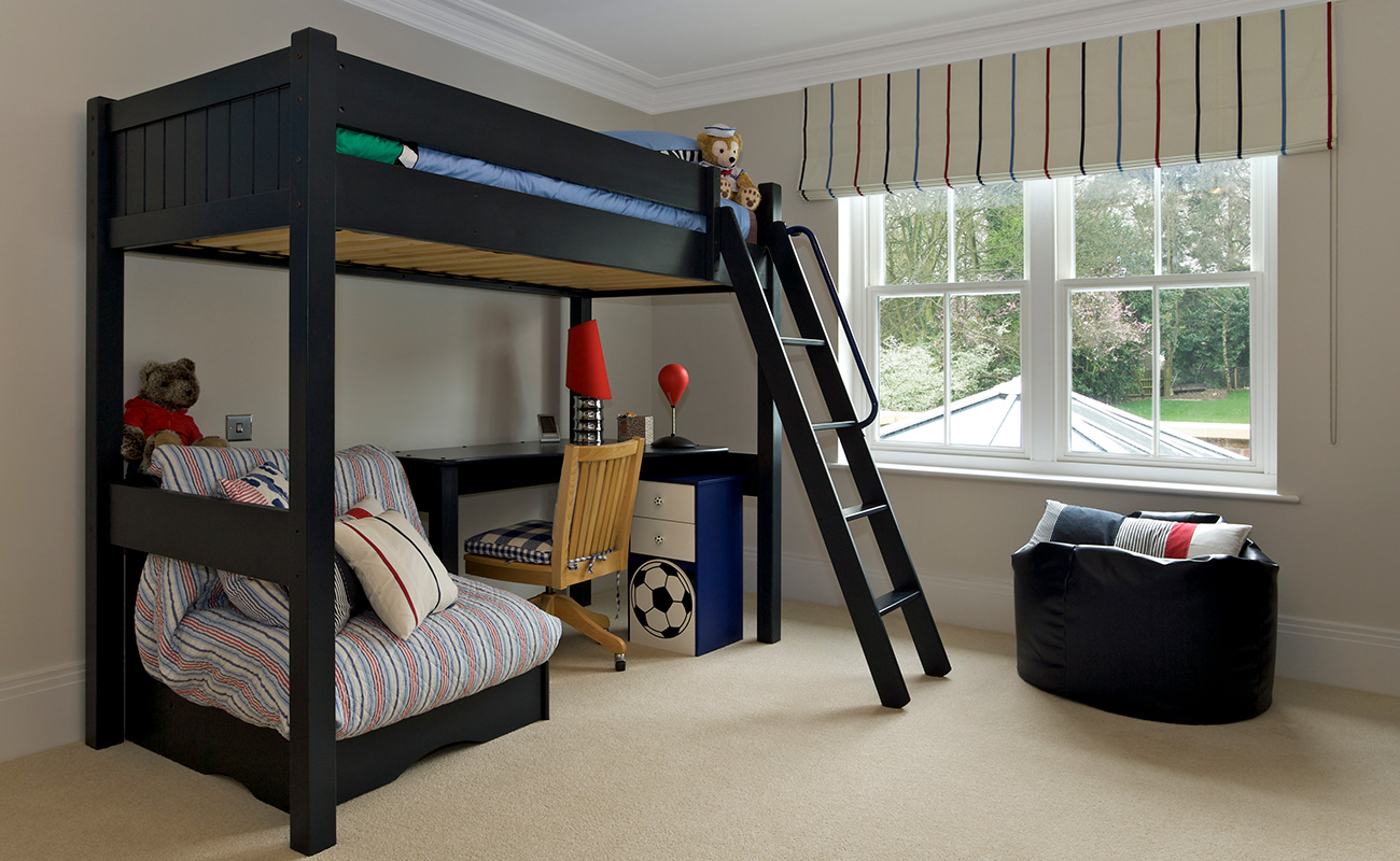 Image of: Loft Bed Frame Twin