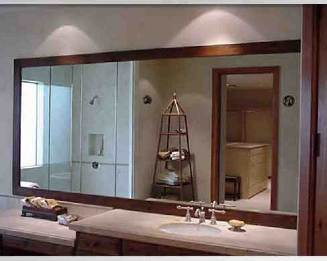 Image of: Long Framed Bathroom Mirrors