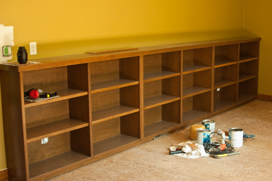 Image of: Long low bookcase Bookcases Wood