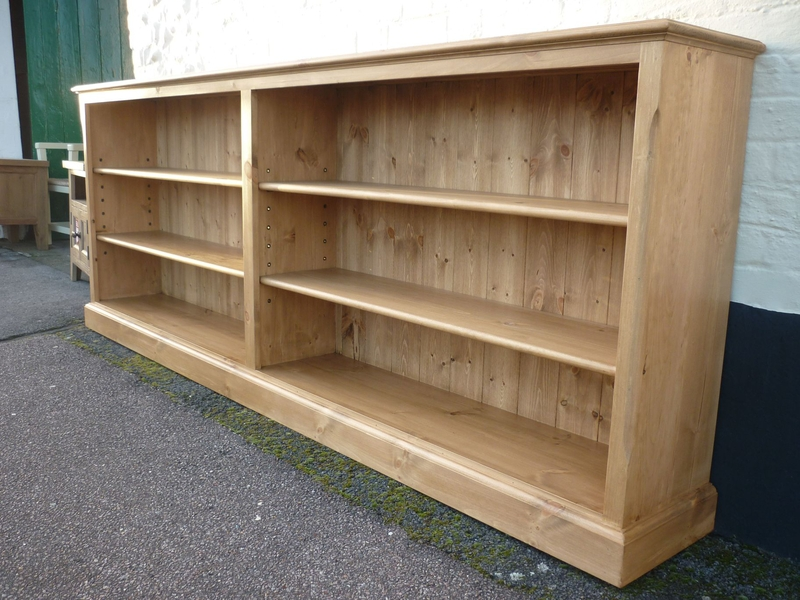 Image of: Long low bookcase Low Profile Bookshelves