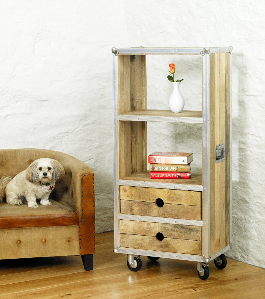 Image of: Low Bookcase with Drawers