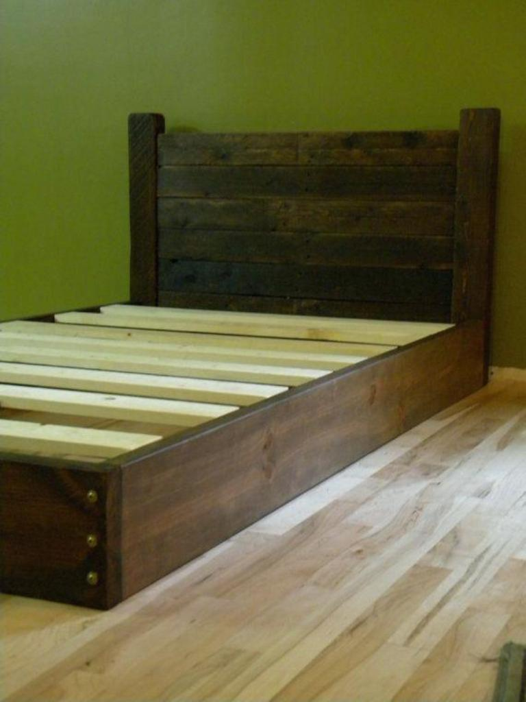 Image of: Low Profiles Bed Frame Diy