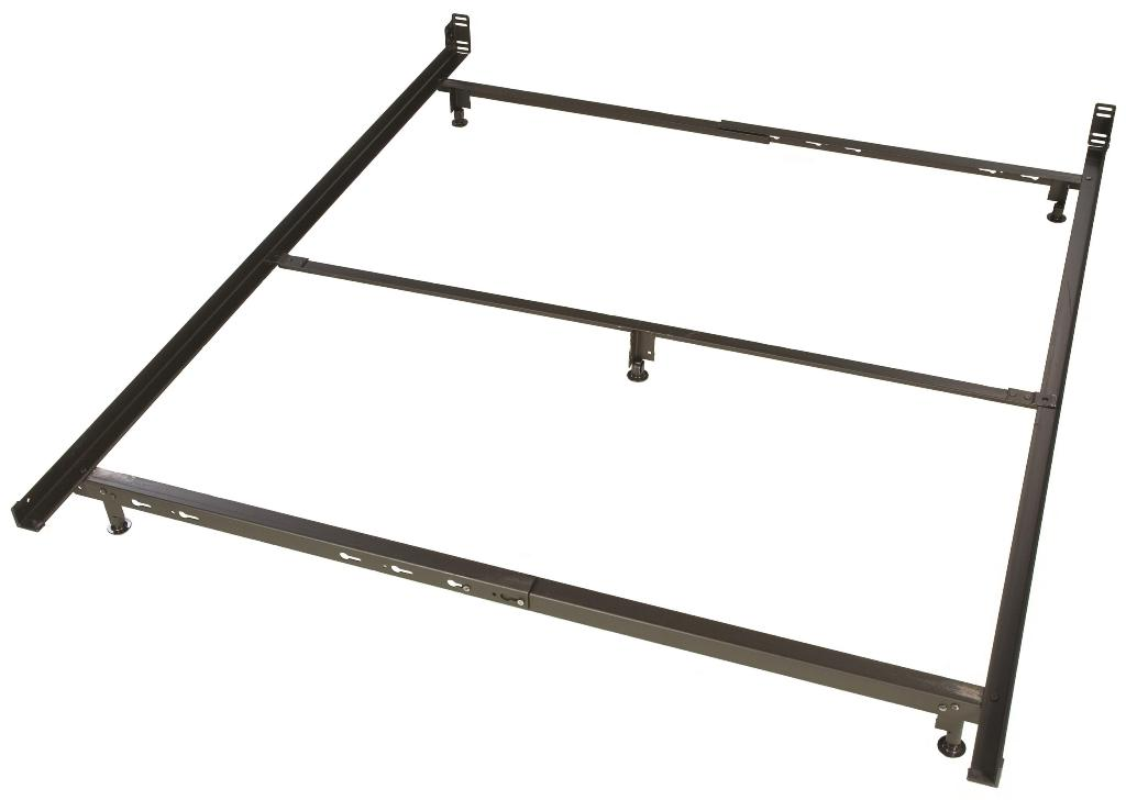 Image of: Low Profile Bed Frame Queen
