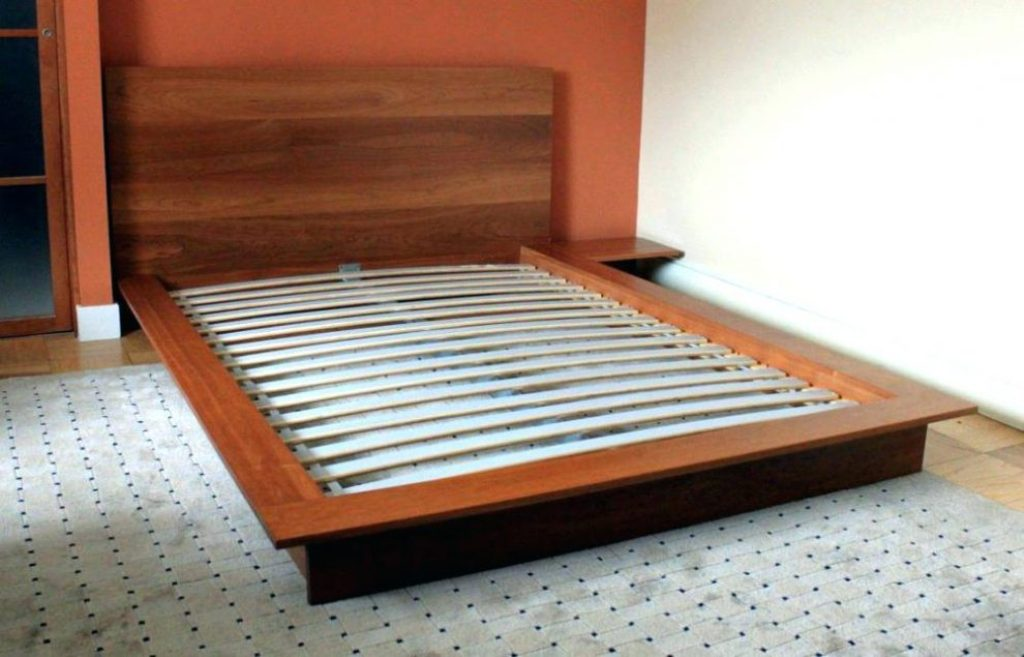 Image of: Low Profile Bed Frame Twins