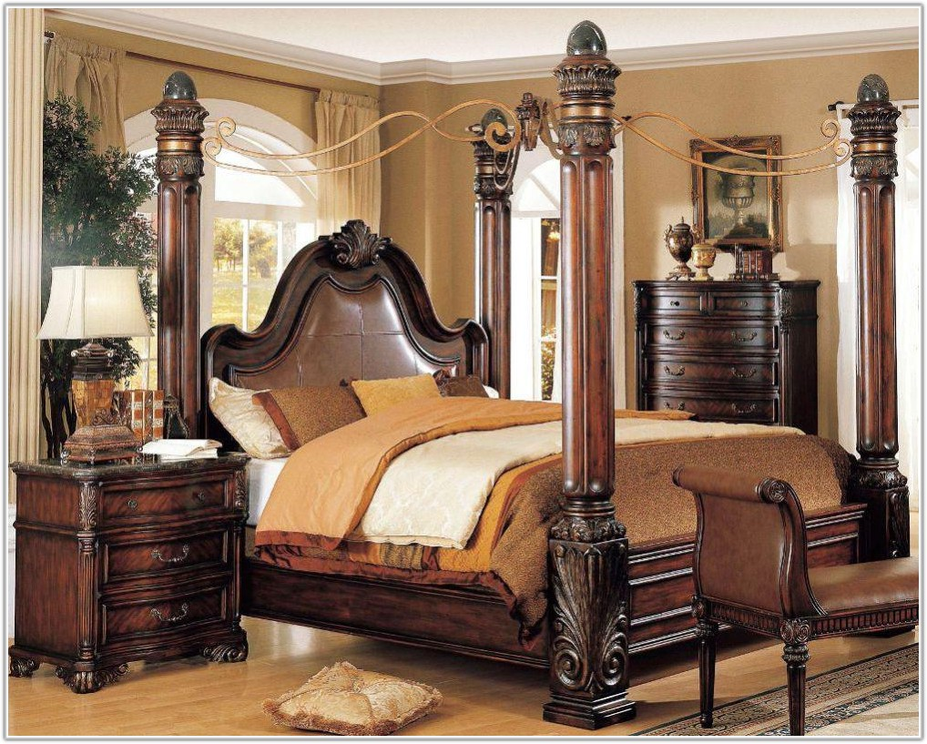 Luxury King Size Canopy Bedroom Sets
