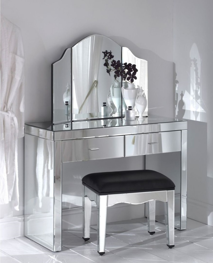 Image of: Luxury Vanity Desk With Mirror
