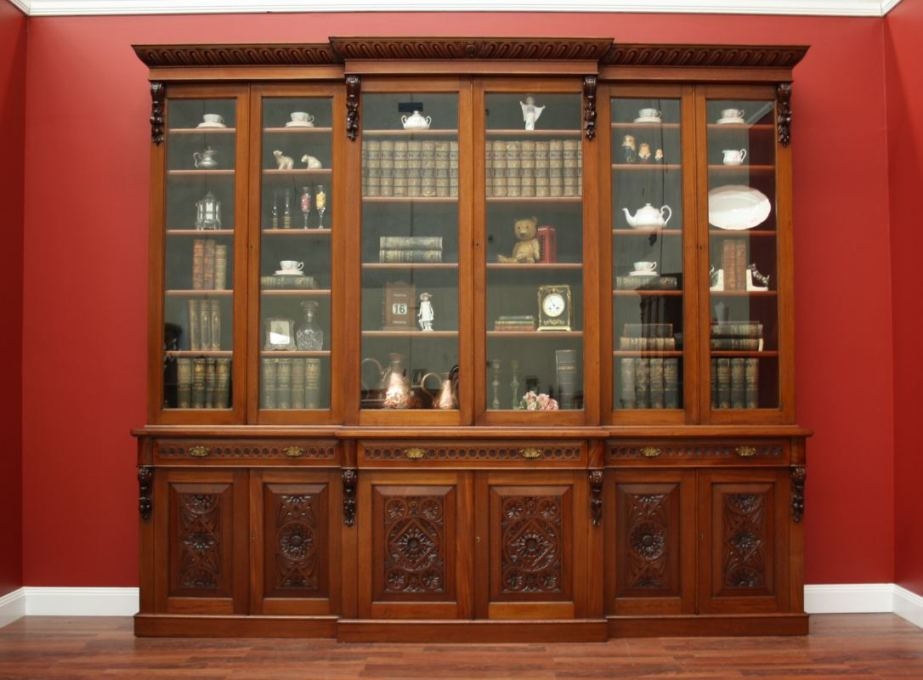 Image of: Mahogany bookcase Argos