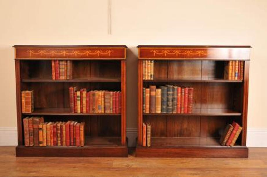 Image of: Mahogany bookcase with doors