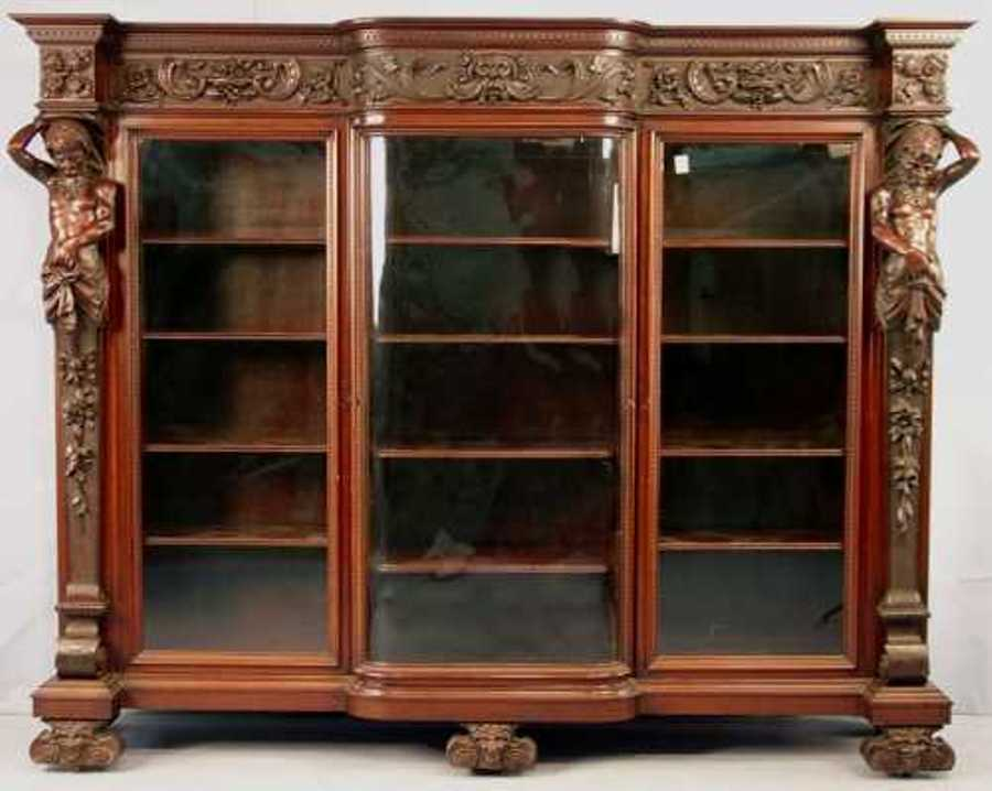 Image of: Mahogany bookcase with drawers