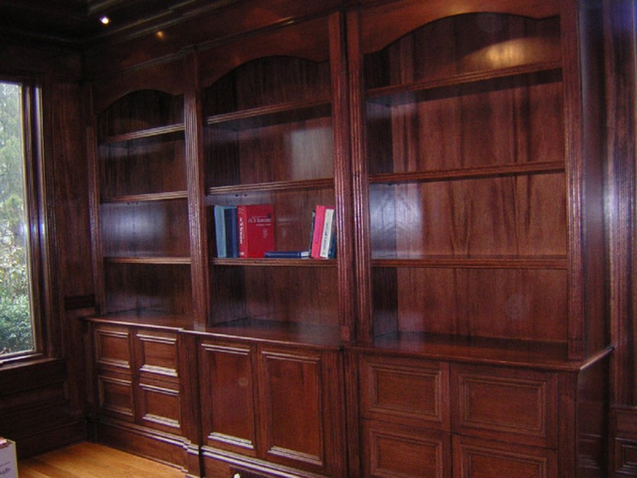 Image of: Mahogany bookcase
