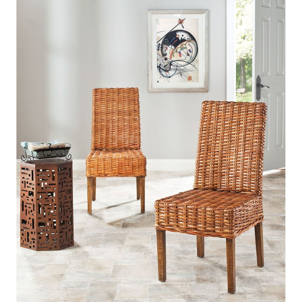 Image of: make wicker dining chairs